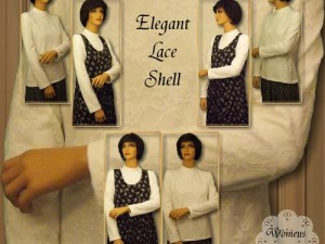 Modest and Kosher Lace Shell Sewing Pattern