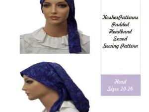 How to Sew Padded Headband Head Scarf / Snood Tutorial