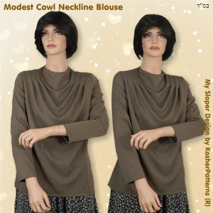 Cowl Neckline Blouse Women Model 02