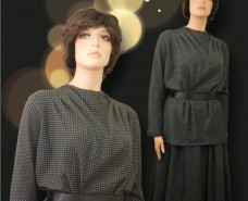Cowl Neckline Top and Matching Aline Skirt