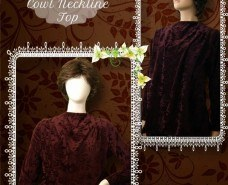 Modest Cowl Neckline Top