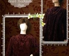 Modest Cowl Neckline Top