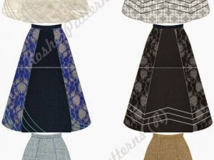 How to Sew a Six-Panel Gathered A-line Skirt