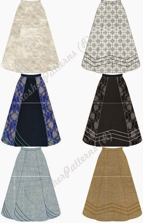How To Make A Panel Skirt - Skirts