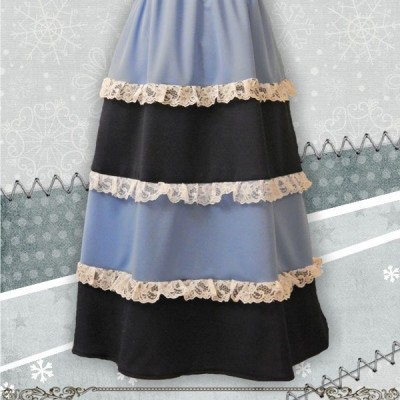 Multi-tier Aline Elastic Waistband  Skirt2