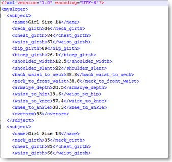 XML Profile Sample