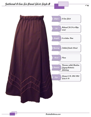 A Line Skirt Pattern Tutorial Elegant Closet Crafter Size