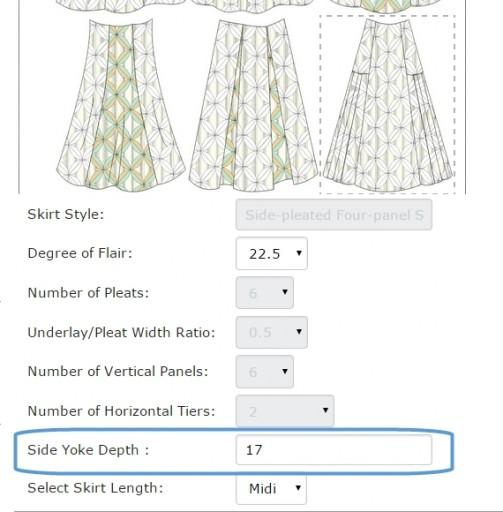 4-panel side-pleated skirt 02