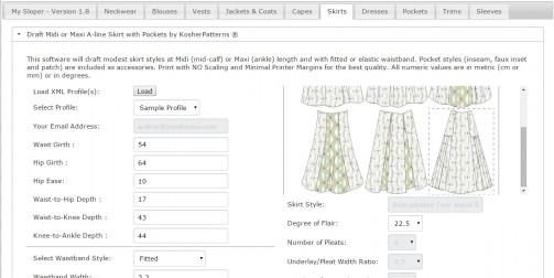 4-panel side-pleated skirt