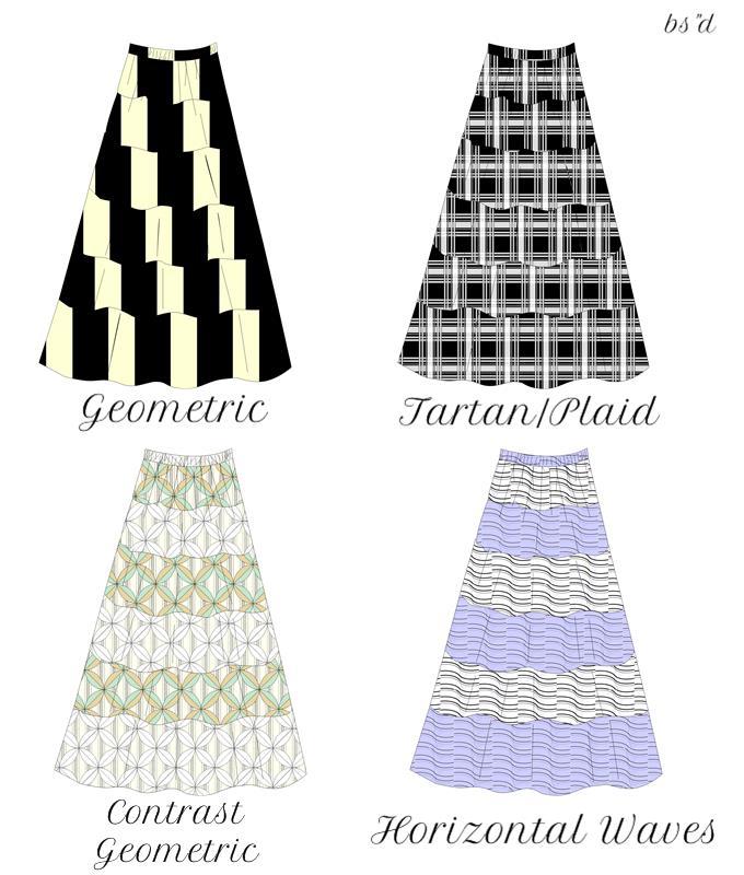 6 tiered maxi a line skirt kosherpatterns