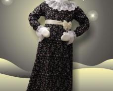Black Floral Empire Dress