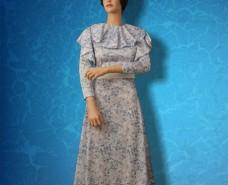Blue Floral Flounce Dress