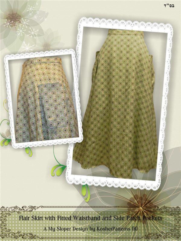 Flair Fitted Waistband Skirt