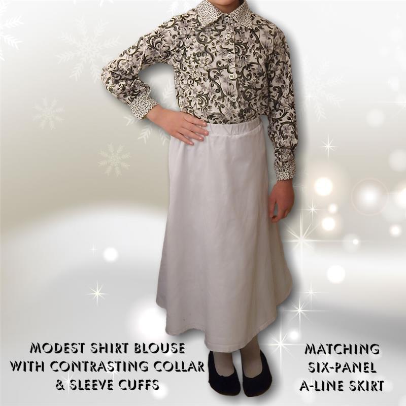 Model Blouse & Skirt Combo
