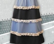 Multi-tier Aline Elastic Waistband Skirt