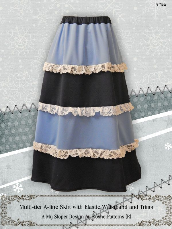 Multi-tier Aline Elastic Waistband Skirt