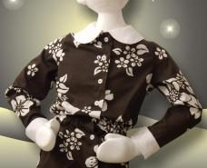 Blouson Button-down Shirt Blouse