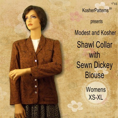 Shawl Collar Blouse Dickey Women5