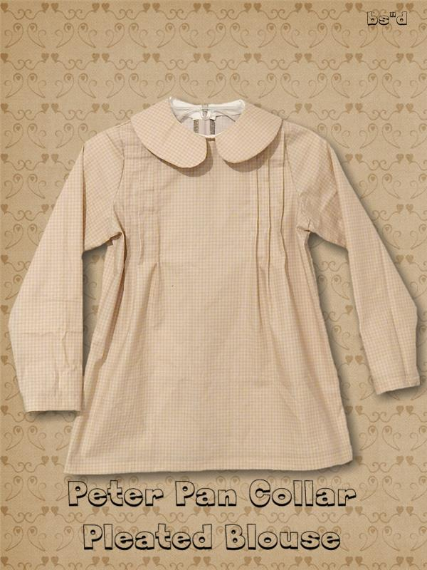 Peter Pan Collar Blouse with Pleated Front