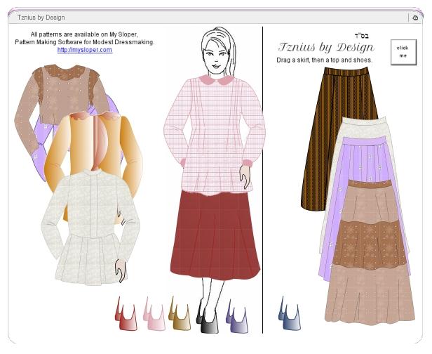tzniusbydesign dress-up game