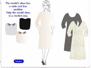 Tznius Shopping Tips Dress-up Game