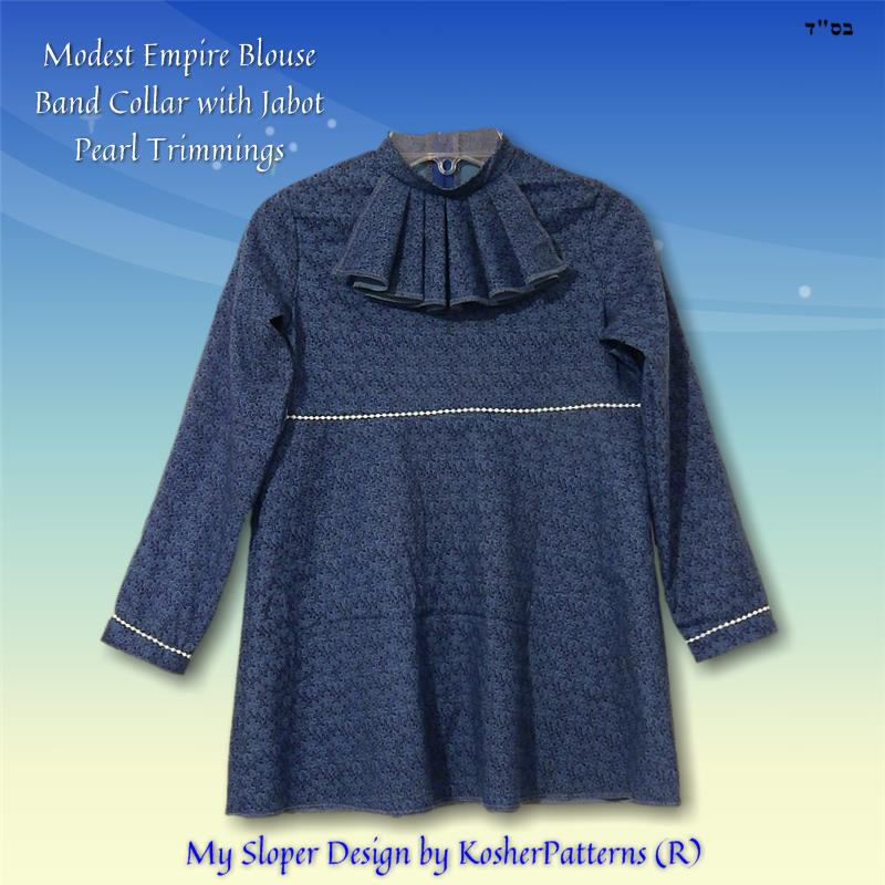 Empire Waist Blouse Jabot Stripes