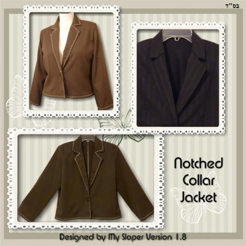 Two-piece Notched Collar Jacket