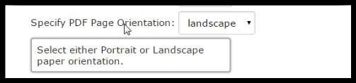 Default Page Orientation