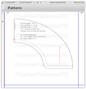 Pattern in Portrait Page Orientation within the page boundary.