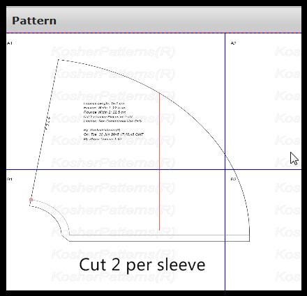Caftan Full-span Even Width Flounce Pattern