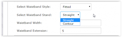 Straight/Contour Waistband