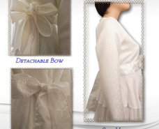 Layered Six-Tiered Bridal Gown Continued