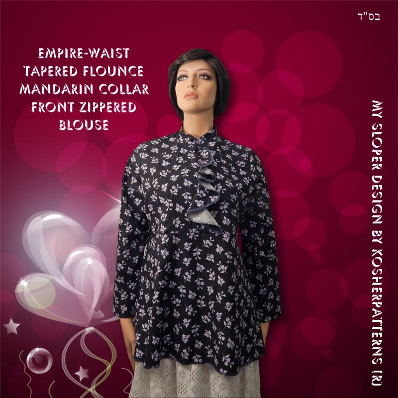 Tapered Flounce Empire Waist Blouse 02