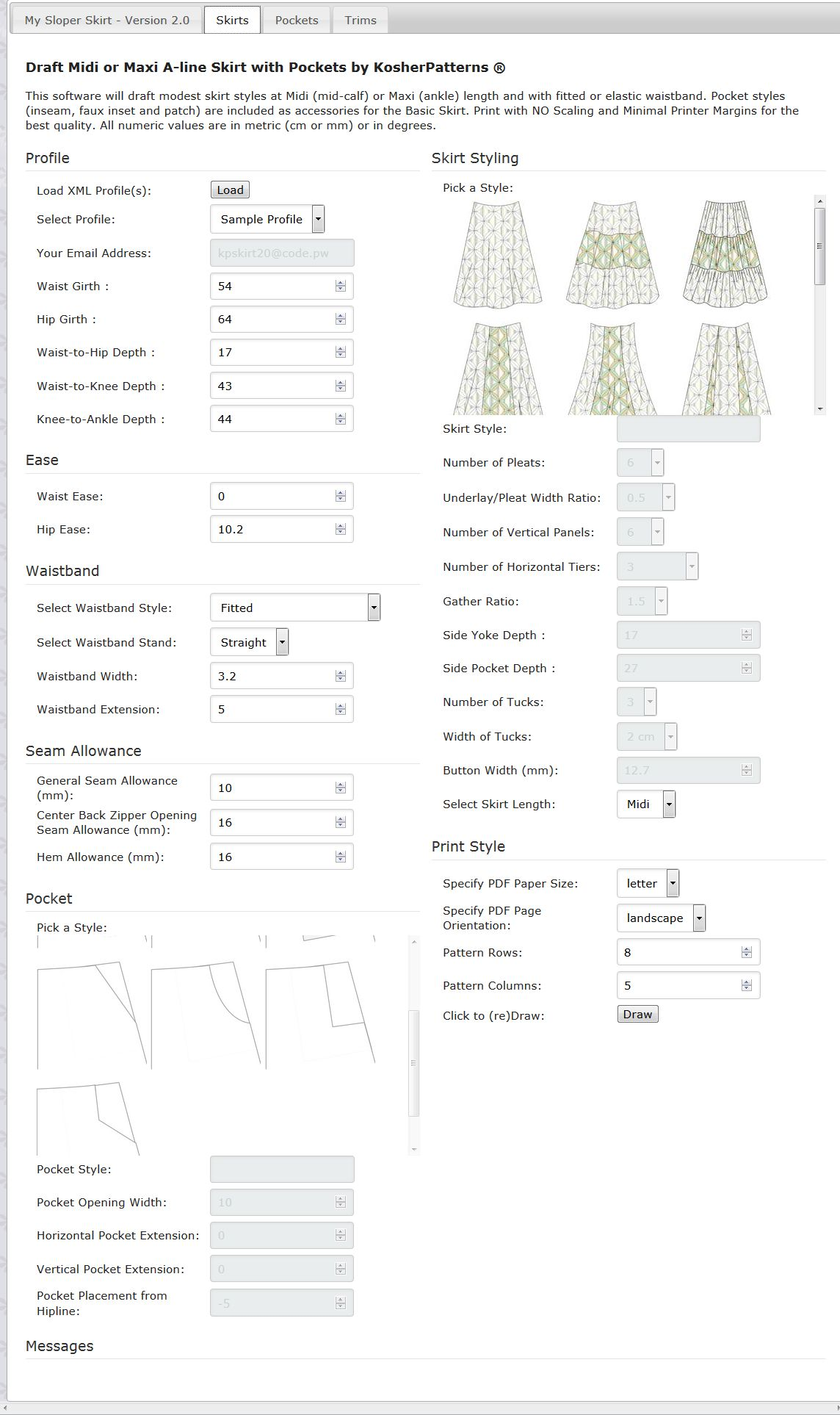 Modest skirt pattern making software my sloper modest skirt pattern making software jeuxipadfo Image collections