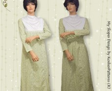 Cowl Neckline Yoke Dress