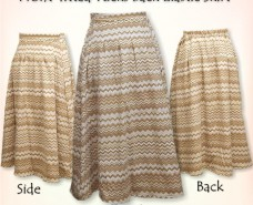 Tucked Front-fitted Back Elastic Skirt