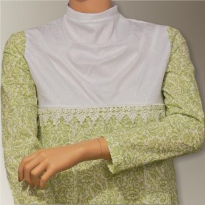 "High Empire Waistline Bodice with a Cowl ""Yoke"""