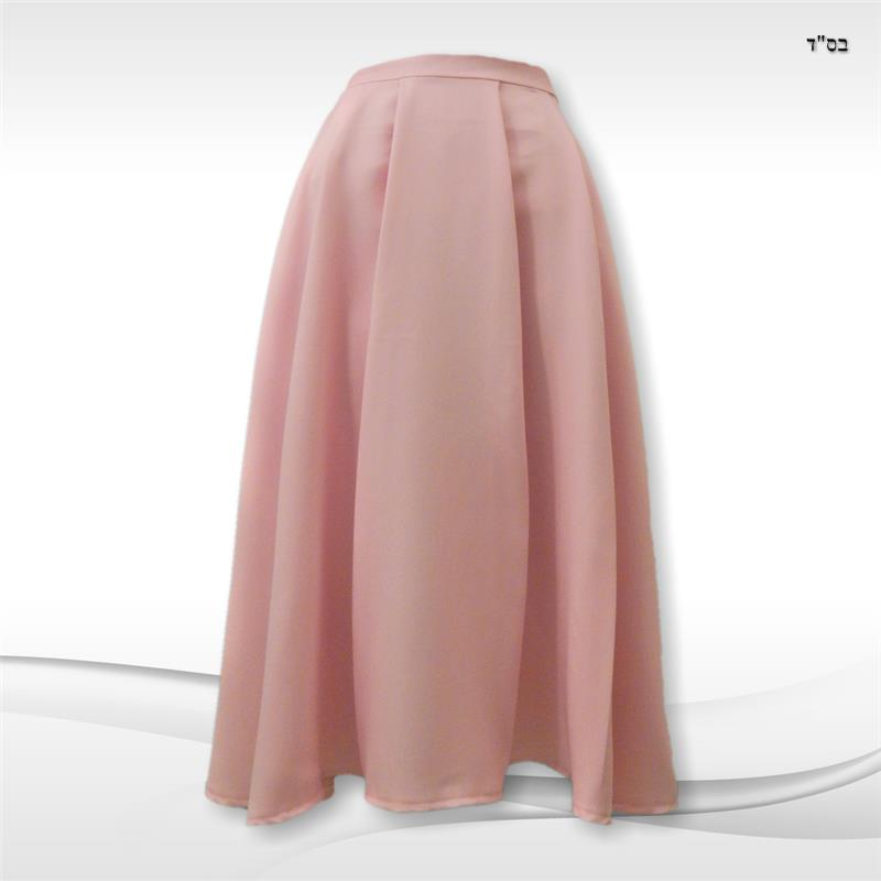Pleated A-line Skirt with Equally-spaced Tucks/Pleats