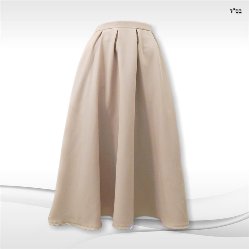 A-line Skirt with Tucks