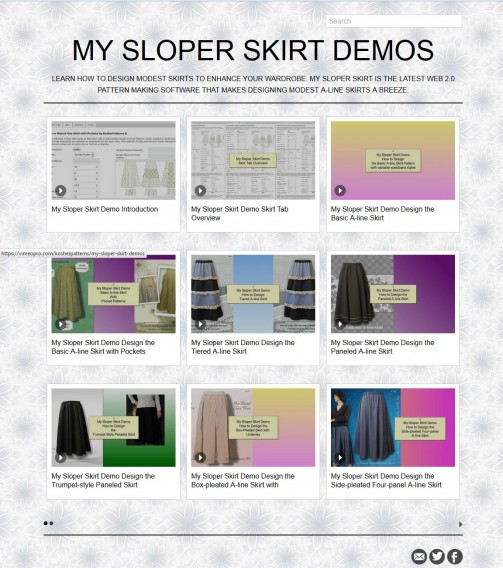 My Sloper Skirt Demo Page