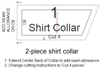 Two-piece Traditional Full-roll Collar Pattern