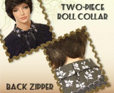 Two-piece Roll Collar With Back Opening
