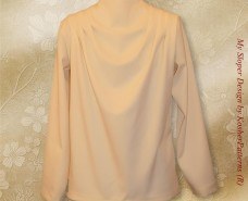 Modest Cowl Neckline Blouse Model