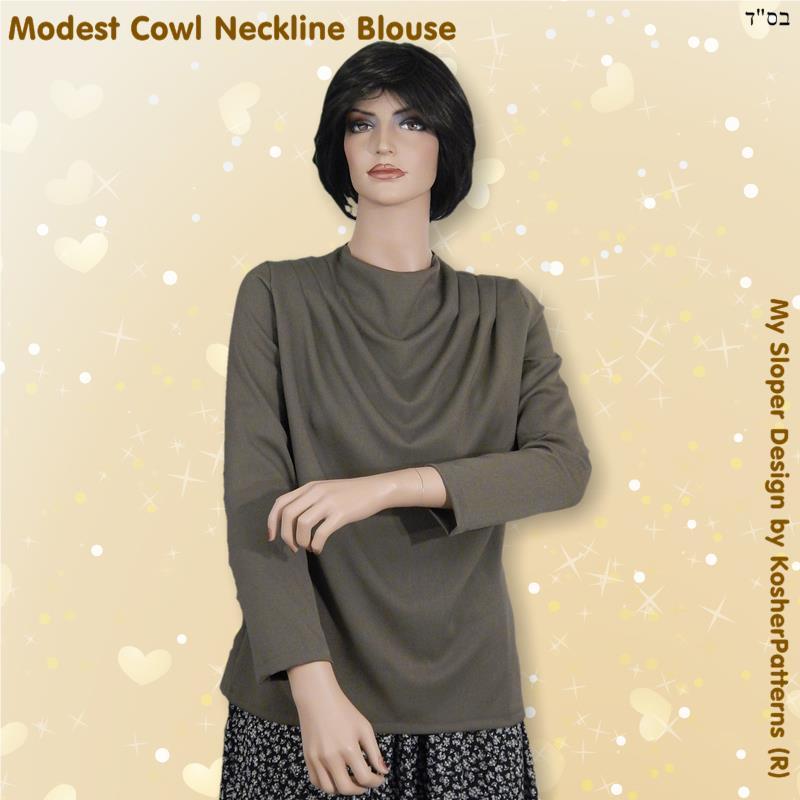 Cowl Neckline Blouse Women