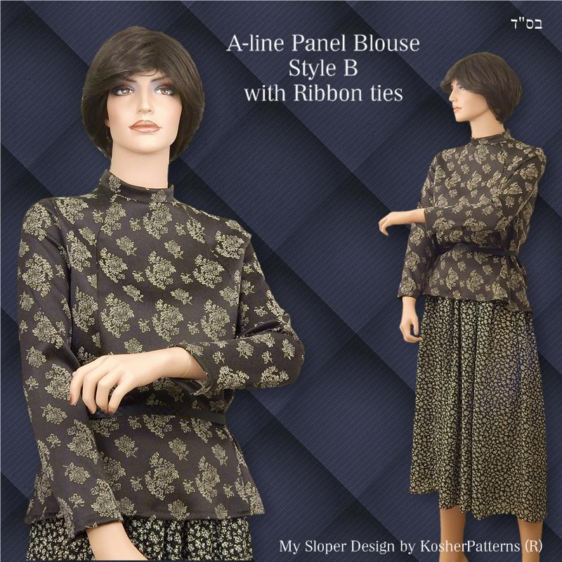 Modest Aline Panel Blouse Style B