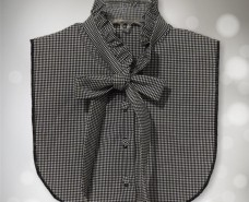 Bow & Frill Dickey Black Gingham