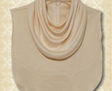 Cowl Collar Dickey on Cream Knit