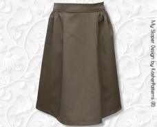 Four-Panel Side-Gathered A-line Skirt