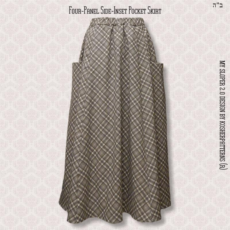 Four-Panel Side-Inset Pocket Skirt