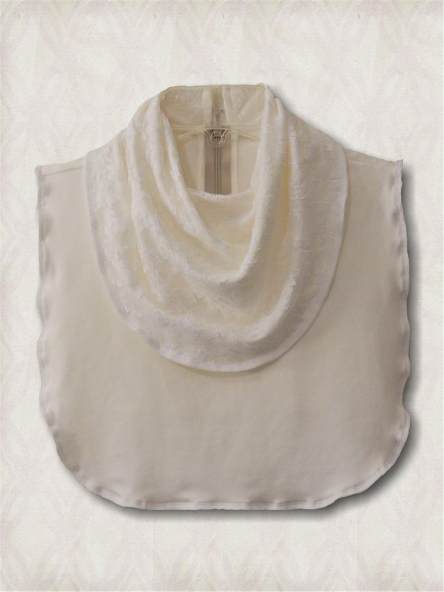 Laced Cowl Collar Dickey